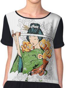 Geisha Samurai Chiffon Top