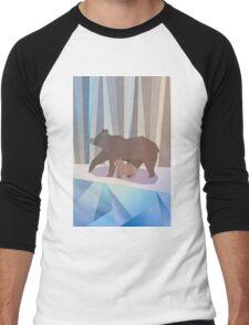 Winter bears Men's Baseball ¾ T-Shirt