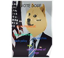 Doge you can believe in - Obama Election Doge Poster