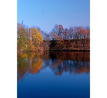 Indian summer reflections at the pond | waterscape photography Photographic Print