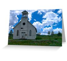 Old Church Under Colorado Skies Greeting Card