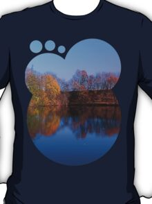 Indian summer reflections at the pond | waterscape photography T-Shirt