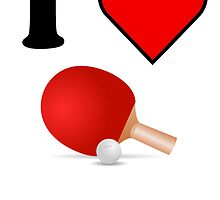 I Heart Table Tennis by kwg2200