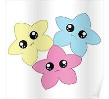 3 Kawaii Stars Poster