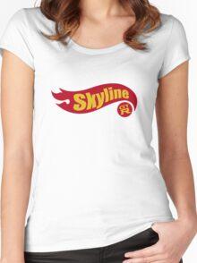 Skyline hot wheels Women's Fitted Scoop T-Shirt