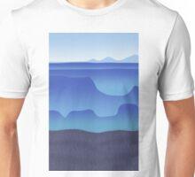morning fog in the blue desert Unisex T-Shirt