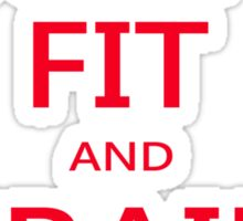 KEEP FIT and TRAIN HARD (RED) Sticker