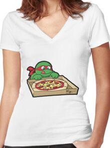 Hungry Raphael Women's Fitted V-Neck T-Shirt