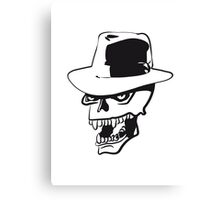 Skull evil hat Canvas Print