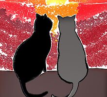 Sunset Cats by raywin