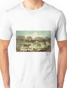 Francisco De Goya  - A Village Bullfight. Man portrait: strong man, boy, male, beard, business suite, masculine, boyfriend, smile, manly, sexy men, mustache Unisex T-Shirt
