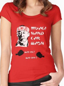 Miyagi's hand wax Women's Fitted Scoop T-Shirt