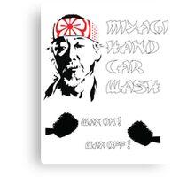 Miyagi's hand wax Canvas Print
