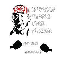 Miyagi's hand wax Photographic Print