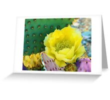 Prickly Pear Cactus Flower Greeting Card