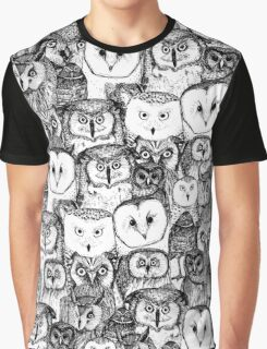 just owls black white Graphic T-Shirt