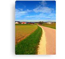 A road, a village and summer season | landscape photography Canvas Print