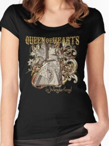 Queen of Hearts Carnivale Style - Gold Version Women's Fitted Scoop T-Shirt