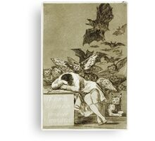 Francisco De Goya  - The Sleep Of Reason Produces Monsters. Bird painting: cute fowl, fly, wings, lucky, pets, wild life, animal, birds, little small, bird, nature Canvas Print
