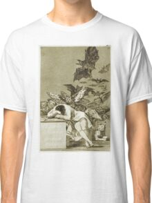 Francisco De Goya  - The Sleep Of Reason Produces Monsters. Bird painting: cute fowl, fly, wings, lucky, pets, wild life, animal, birds, little small, bird, nature Classic T-Shirt