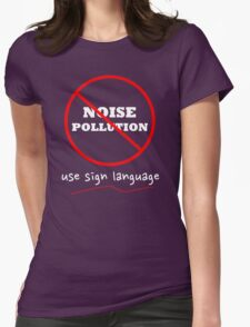 Sign Language is beautiful Womens Fitted T-Shirt