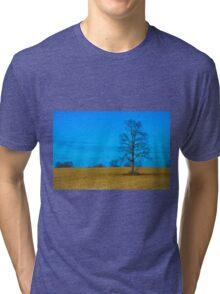 Lone Tree in Field Tri-blend T-Shirt