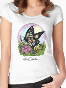 Butterfly Serenity Women's Fitted Scoop T-Shirt