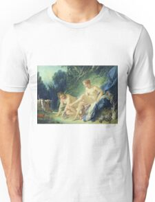 Francois Boucher - Diana Getting Out Of Her Bath. Woman portrait: sensual woman, girly art, female style, pretty women, femine, beautiful dress, cute, creativity, love, sexy lady, erotic pose Unisex T-Shirt