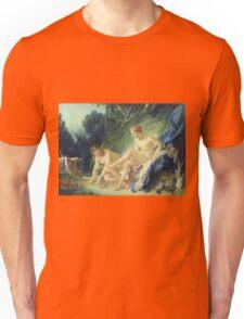Francois Boucher - Diana Getting Out Of Her Bath. Woman portrait: sensual woman, girly art, female style, pretty women, femine, beautiful dress, cute, creativity, love, sexy lady, erotic pose Unisex T-Shirt
