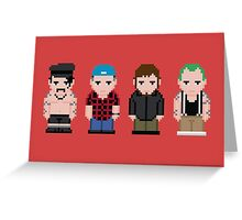Red Hot Chili Peppers Pixel Art Greeting Card