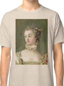 Francois Boucher - Madame De Pompadour (1721-64). Woman portrait: sensual woman, girly art, female style, pretty women, femine, beautiful dress, cute, creativity, love, sexy lady, erotic pose Classic T-Shirt