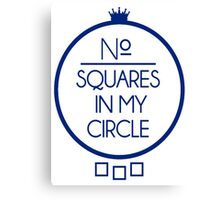 No Squares Yankee Blue Canvas Print