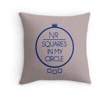 No Squares Yankee Blue Throw Pillow