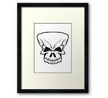 Skull evil Framed Print