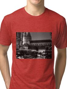 Historic Koblenz Market Germany Tri-blend T-Shirt