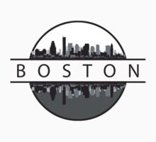 Boston Massachusetts Skyline by T-ShirtsGifts