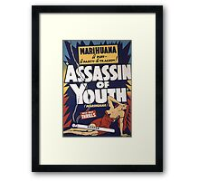 Marihuana Assassin of Youth Framed Print