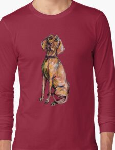 Dog Pattern 2 Black Long Sleeve T-Shirt
