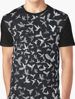Birds black and white Graphic T-Shirt