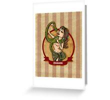 Cirque D'Burlesque: The Snake Charmer Greeting Card