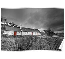 Blackrock Cottage - Glencoe Scotland Poster