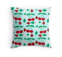 Cherries&Ladybugs Throw Pillow