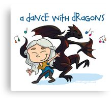 A Dance With Dragons Canvas Print