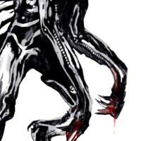 cyber werewolf Sticker