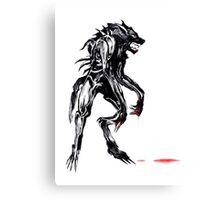 cyber werewolf Canvas Print