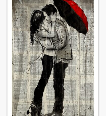 rainfall and kisses  Sticker