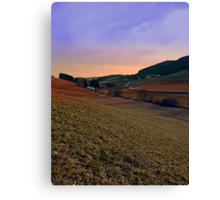 Beautiful valley scenery in the evening | landscape photography Canvas Print