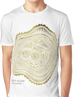 Peachleaf Willow – Gold Tree Rings Graphic T-Shirt
