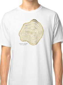 Peachleaf Willow – Gold Tree Rings Classic T-Shirt