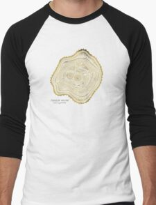 Peachleaf Willow – Gold Tree Rings Men's Baseball ¾ T-Shirt